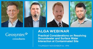 Frederic Cosme and Lange Jorstad to Present Webinar on Groundwater and Surface Water Interactions