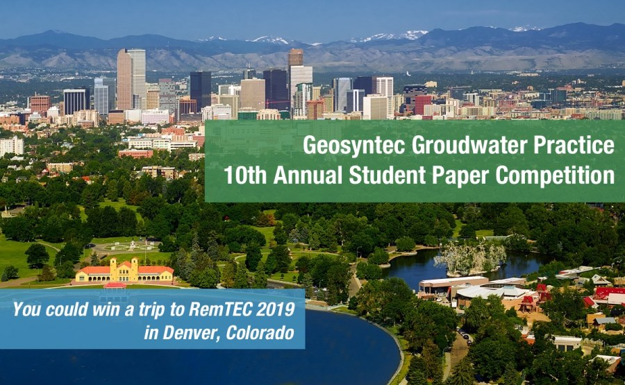 2019 Groundwater Student Paper Competition