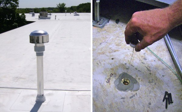 Geosyntec initiated a vapor intrusion sampling (left) and passive mitigation (right) program that reduced our client's long-term liabilities by almost 90%.