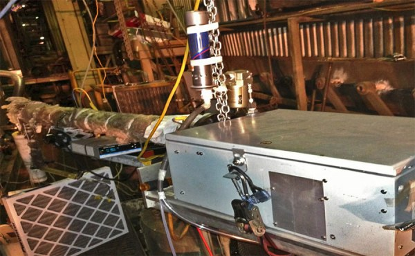 An extractive quantum cascade laser system provided field measurements at a selective catalytic reduction exhaust duct.