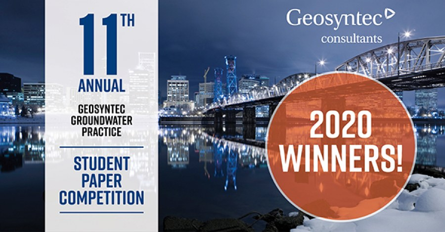 Geosyntec Announces Winners of 2020 Student Paper Contest