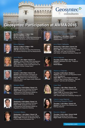 Geosyntec Presented at A&WMA's Annual Conference and Exhibition