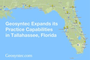 Geosyntec Expands Practice Capabilities in Tallahassee, Florida