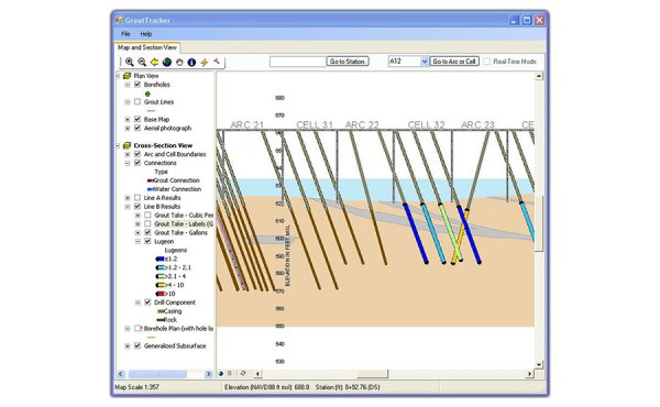 Geosyntec's GroutTracker streamlined the workflow that allows data to be compiled in an efficient and quality-controlled fashion and viewed in an intuitive interface.